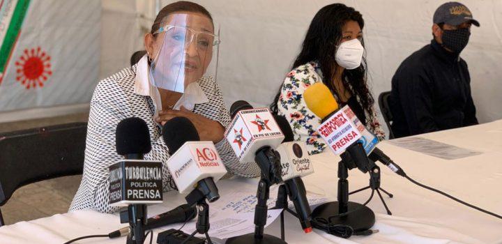 Autoridades auxiliares de Los Reyes La Paz gestionan pruebas Covid-19