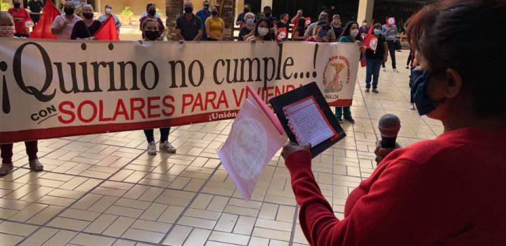 Antorcha exige a Gobierno de Quirino Ordaz cumplimiento de acuerdos