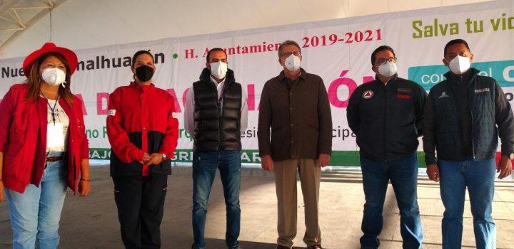 Inicia vacunación antiCovid en Chimalhuacán