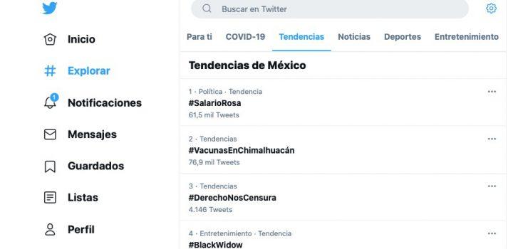 #VacunasEnChimalhuacán se posiciona en tendencias nacionales