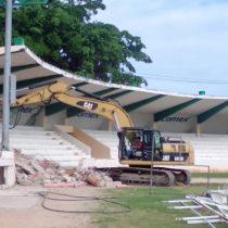 Inicia la remodelación «desde cero» del estadio del equipo de Pío López Obrador