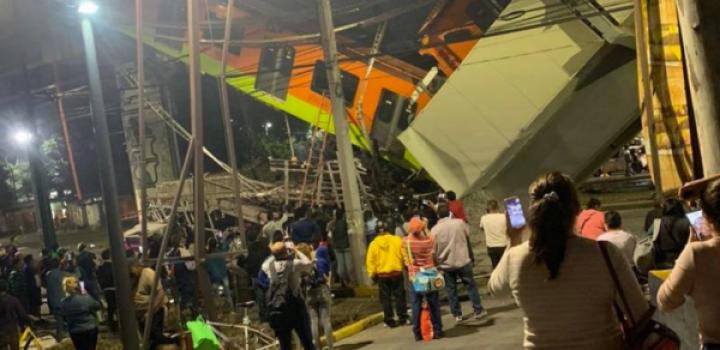 Colapsa tramo de la Línea 12 del Metro en CDMX