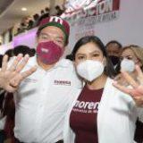 Morenistas inconformes revientan pre-cierre de campaña en Puebla y tildan de traidor a Delgado