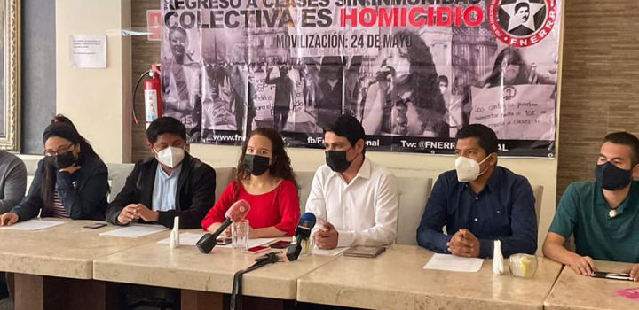 Regreso a clases sin inmunidad colectiva es homicidio: FNERRR