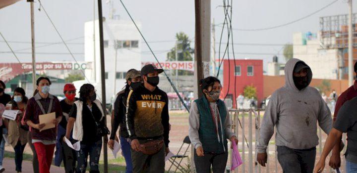En marcha último día de vacunación contra covid-19 para personas de 30 a 39 años en Chimalhuacán