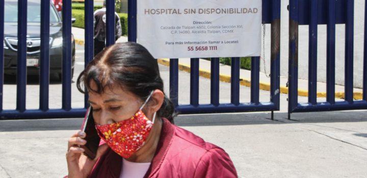 INER y otras 89 instituciones de salud públicas están al 100% de ocupación hospitalaria por tercera ola de Covid