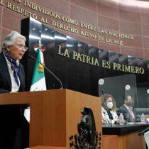 Morena aprueba a Sánchez Cordero como presidenta del Senado