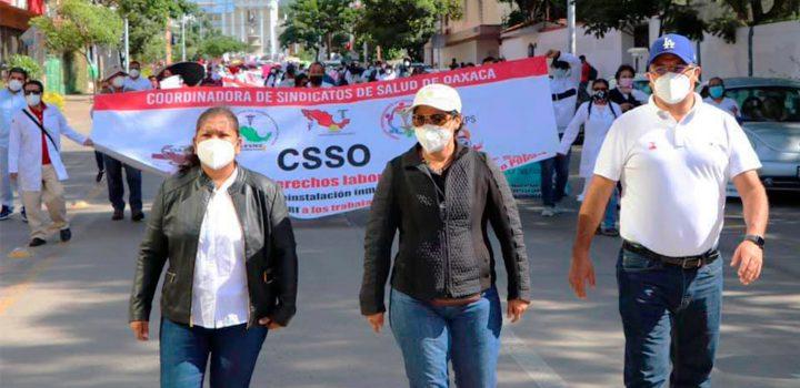 Antorcha Oaxaca respalda lucha por justicia laboral del personal de salud despedido: Dimas Romero
