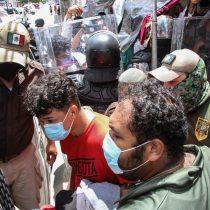 INM y Guardia Nacional dispersan una tercera caravana de migrantes en Chiapas