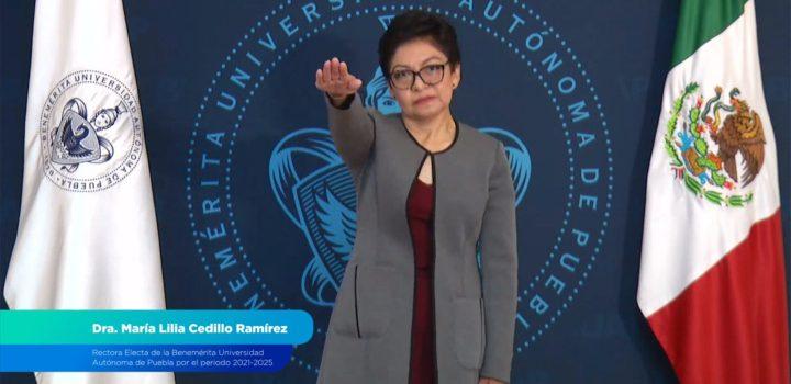 La Dra. Lilia Cedillo asume la rectoría de la Benemérita Universidad Autónoma de Puebla
