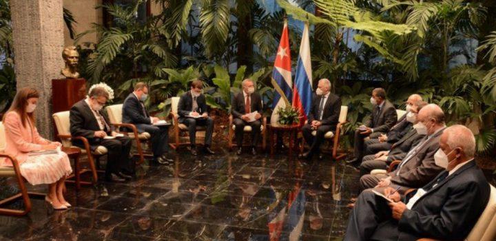 Presidente de Cuba recibe a enviado especial de Putin para fortalecer relaciones estratégicas