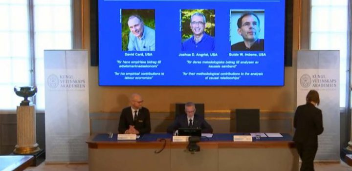 David Card, Joshua Angrist y Guido Imbens, galardonados con el Premio Nobel de Economía 2021